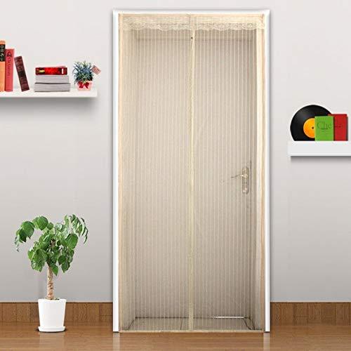 5 tamaños de personalidad práctica familiar mosquitera cortina imán puerta puerta mosquitera mosquitera e imán pantalla malla imán calor en la puerta V3 W 110 x H 210 cm