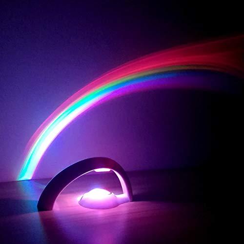CUICAN Regenboog-tafellamp, droomprojectie sterrenhemel creatief romantisch led-nachtlampje voor woonkamer bed leeslamp