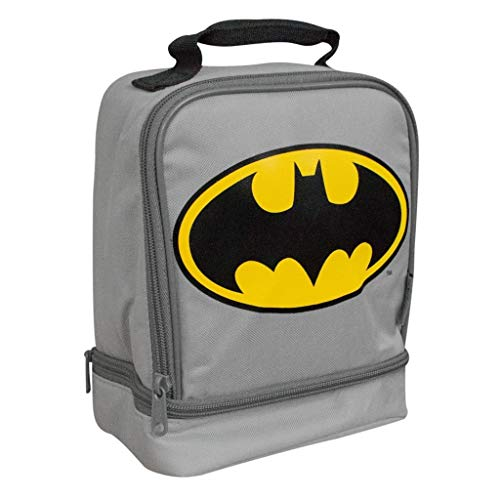 Thermos Dual Compartment Lunch Kit. (Batman Grey/Yellow)