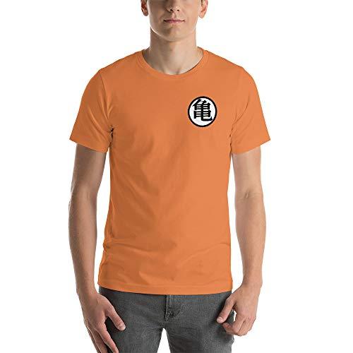 Goku Symbol Gi Turtle King Kai Saiyan Saga Front and Back Shirt Burnt Orange