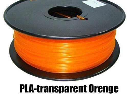 LSB-3D Prints, 1pc 3d Printer PLA Filament Diameter 1.75mm Polylactic Acid 1kg Fit For Filamento 3d Pen Printing Z18 Tray Rack Abdos (Color : Tran Orange)