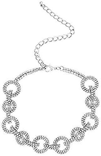 ZGYFJCH Co.,ltd Collar Anillo Collar Mujer candado Collar Cadena de Hueso