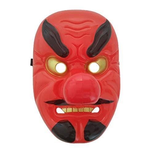 MXECO Tengu plástico Rojo Largo máscara de la Nariz Horror
