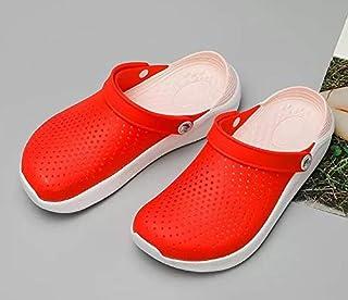 LSWL Hot Hole Shoes Male Men Sandals New Crocse Clogs Hombre Sandles Mens Sandals Men Summer Shoes Slippers (Color : Clear, Shoe Size : 39)