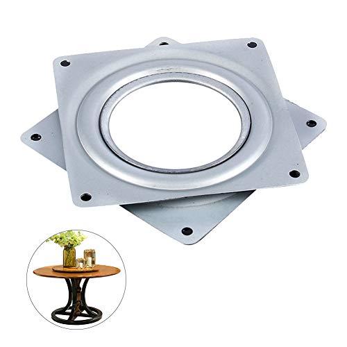 10 cm fyrkantig lat Susan skivspelare galvaniserat stål roterande lager svängbar platta för TV-ställ datorskärm skivspelare