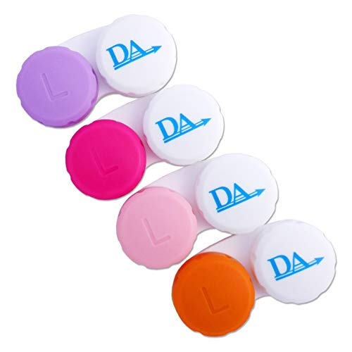 4 x Contact Lens Cases ~ Colour Coded L&R Soaking Storage Cases (Pinks)