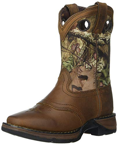 Smoky Mountain Boys Brown with Blue Stitch Monterey Western Cowboy Boots,Brown,1 M US Little Kid