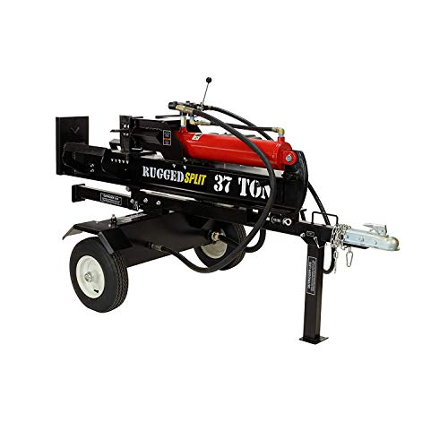 Review Of RuggedMade 37 Ton Hydraulic Gas Powered Log Splitter with Auto Return Detent Valve, 16 GPM...