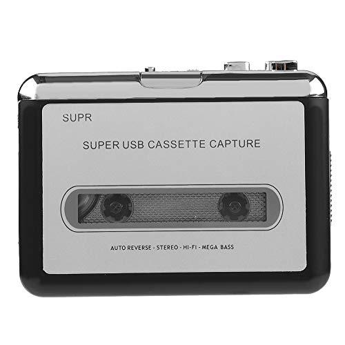 Cassette Player,Cassette Tape to MP3 Converter, Via USB Portable Cassette Tape Converter Captures MP3 Audio Music, Cassette to MP3 / for iPod/CD