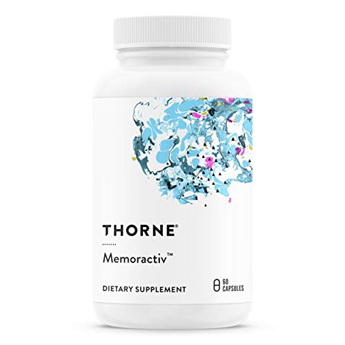 Thorne Research - Memoractiv - Botanicals and Nutrients for Cognitive Function and Mental Focus - Ashwaganda, Acetyl-L-Carnitine, Ginkgo - 60 Capsules