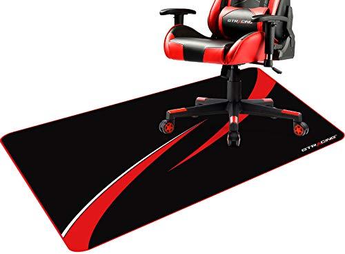 Gtracing ゲーミングチェアマット チェアマット カーペット ラグ 床保護マット ずれない デスクマット 傷防止マット 吸着 床マット大型 防音 洗える ISSA認証抗菌防臭 一年保証110CM*90CM*2mm (603-RED)