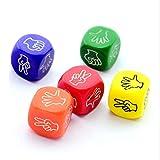 LPOQW 6 unids/set divertido juego de beber dados roca papel tijeras dedo adivinación juego juguetes 6 lados