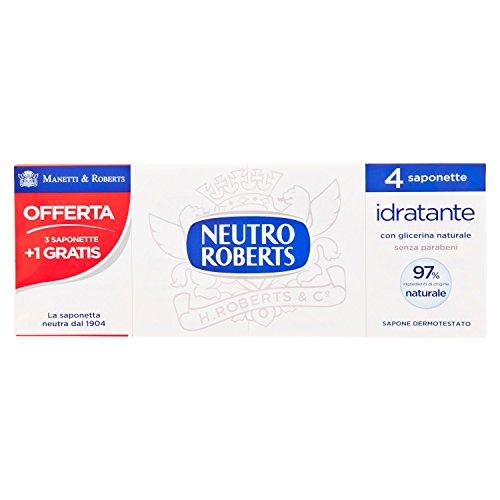 Neutre Roberts - Savons Neutres, Extra Hydratante, avec Glycérine Naturel, pour Peau Souple - 400 G 4 Pezzi Pack de 18]