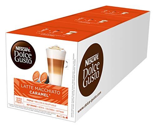 Nescafe Dolce Gusto Caramel Latte Macchiato x 4 packs (64 pods, 32 servings) by Nescafe Dolce Gusto