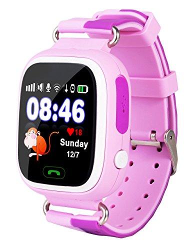 VIDIMENSIO GPS Telefon Uhr Kleiner Affe - pink ohne Abhörfunktion, für Kinder, SOS und Telefonfunktion