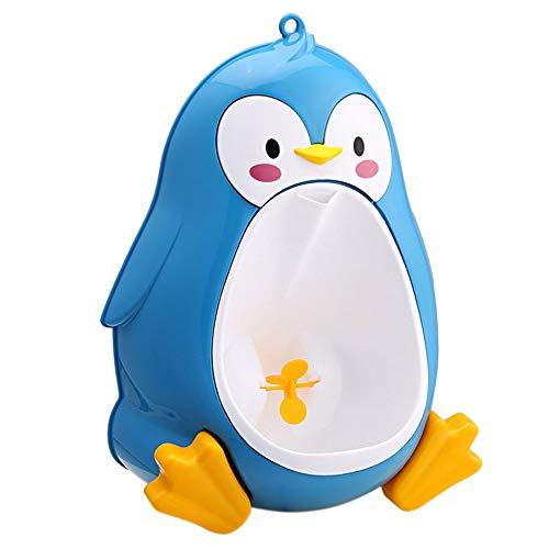 Silverdrew Pingüino Lindo de Dibujos Animados Orinal Inodoro Inodoro de pie Orinal Baño Niños Entrenador de orina para niños de 8 Meses a 6 años