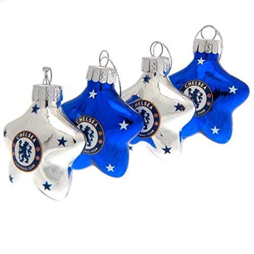 Chelsea F.C. Lot de 4 boules en forme d'étoile