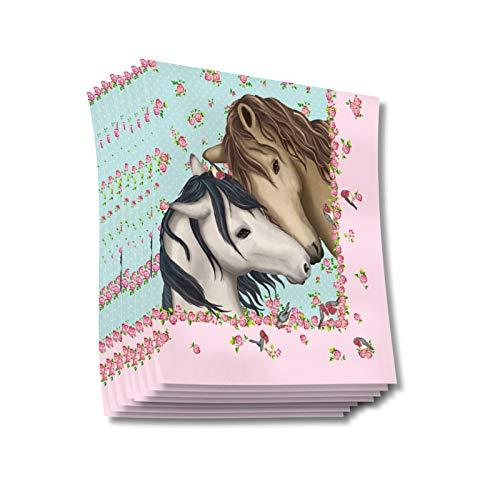 Neu: 20 Servietten * Pferde * für Kindergeburtstag vom Lutz Mauder Verlag | 11366 | Kinder Geburtstag Mottoparty Pony Fohlen