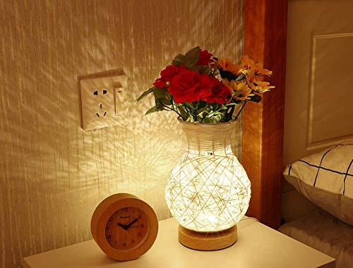 Vaas meisje hart tafellamp slaapkamer nachtkastje creatieve romantische warme trouwzaal nachtlampje slaap thuis (A)