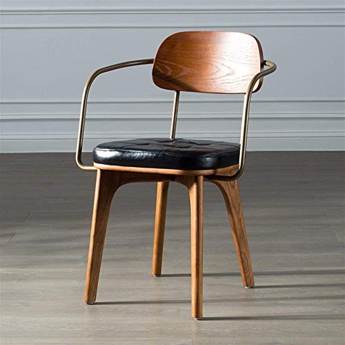 Sedia da pranzo moderna Sedie da pranzo, Sedie da pranzo Moderna minimalistaCasa, pregevole fattura, cuscini robusti e affidabili / morbidi, metallo in ferro battuto, sedie per la cucina, soggiorno