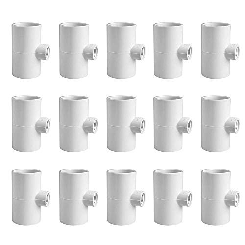 15 PVC Tee Fittings Original Pvc Tee Fittings For Horizontal Chicken Waterer And Chicken Feeder On Pvc Pipe Chicken Coop Accessories Namely For Threaded Red Chicken Nipples Or Threaded Brass Rabbit