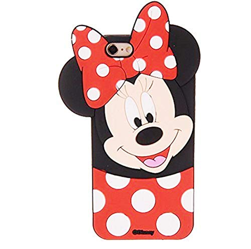 Cases for iPhone 5S 5 5C SE Case, Minnie 3D Cartoon Animal Soft Slim Silicone Bumper Protective Cover Shockproof Case, Kids Girls Teens Cases, Thick Funny Protector Skin for iPhone SE/5S/5C