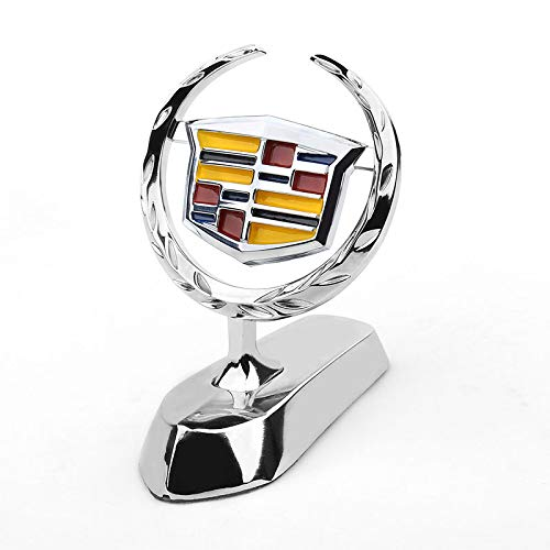 Bearfire 3D Emblem Car Logo Front Hood Ornament Car Cover Chrome Eagle Badge for Cadillac Accessories