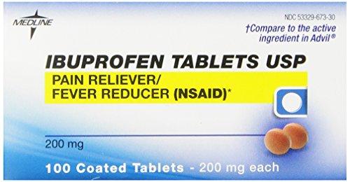 Medline Ibuprofen, 200mg, 100 coated tablets