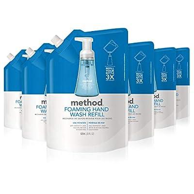 Method Foaming Hand Soap Refill, Sea Minerals, 28 Fl Oz (Pack of 6)