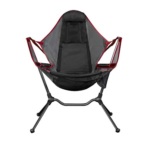 Chair Camping Swing Luxury Recliner Relaxation Swinging Comfort Lean Back Outdoor Folding Chair Fishing Chairs Ultralight Folding Hammock Recliner Swing (Red)