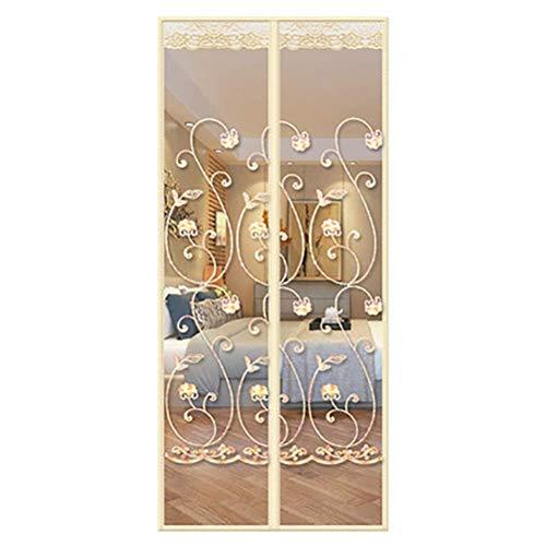 Giow Magnetgitter-Tür für Schiebetüren, Magnetgitter für Insektentüren hält Insekten fern, lässt frische Luft herein, Beige, 170x220cm (67x87inch)