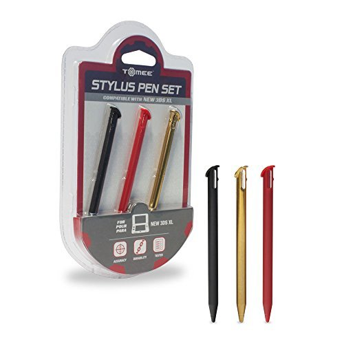 Tomee Stylus Pen Set for New Nintendo 3DS XL (3-Pack)