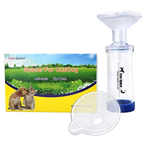 Free-Space Cat Aerosol Inhalator Spacer Chamber zu Helfen, Bei Katzen mit Asthma zu Atmen 2 Größen der Maske, Passt Alle Katzen und Kleine zu Mediu Asthma Oder COPD