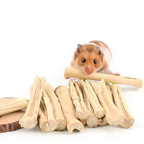 Hamster Juguetes para Masticar Palos De Mascar Dulce De Bambú Rod Molar Admiten Juguete De La Dentición De Los Conejillos De Indias Conejo Ardilla Chinchilla Pequeños Animales Dientes Cuidado (50 G)