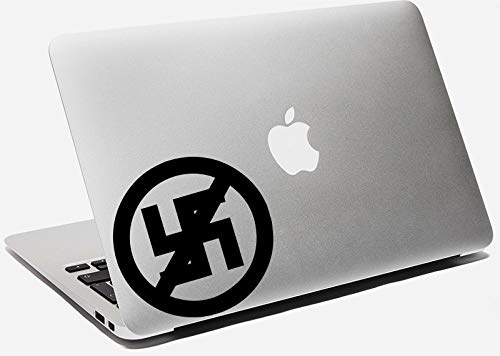 DKISEE Anti Nazi Symbol Decal Anti Nazi Sticker Car Window Wall Bumper Phone Laptop Sticker 5 inch
