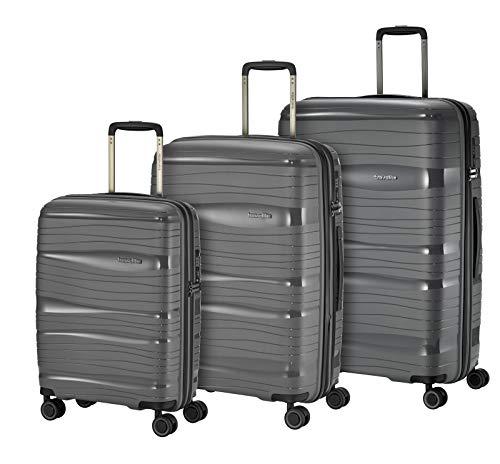 travelite 4-Rad Koffer Set Hartschale Größen L/M/S mit TSA Schloss, Handgepäck erfüllt IATA-Bordgepäck Maß, Gepäck Serie MOTION: Leichter Hartschalen...