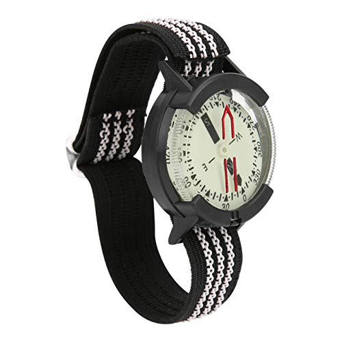 Buceo Brújula Impermeable Reloj de brújula Durable Portátil Impermeable Ajustable para acampar