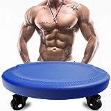 Dee Plus - Disco de fitness abdominal para cuatro ruedas, rodillo deslizante para equipamiento, Ultimate Core Trainer, gimnasio, casa abdominal y equipo de entrenamiento corporal total, Rodilleras