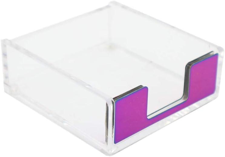 MEI YI TIAN Clear Acrylic Max 44% OFF Rainbow Co Note Pad Atlanta Mall Self-Stick Holders
