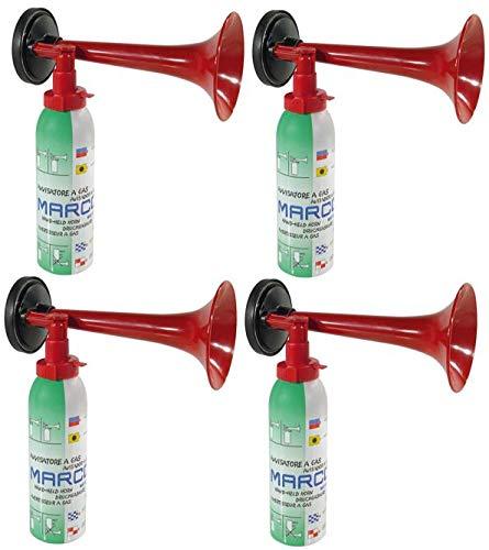 Marco 4 Druckluftfanfaren, die Top Hupe Fanfare Tröte Drucklufthupe EU Gesetz komform sehr Umweltfreundlich