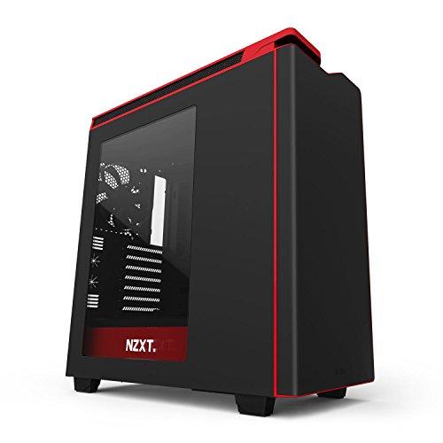 NZXT H440 Boitier PC Noir/Rouge avec fenêtre
