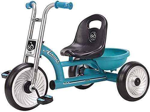 Lyl adecuado para niños de 2 a 6 años de edad, triciclo de balance, bicicleta deportiva, carro de niño y niña (color azul)