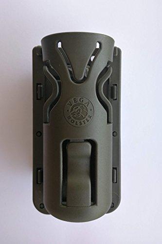VEGA HOLSTER Porta Torcia Tattica in polimero 8VP61 Passante Rotativo (Verde)