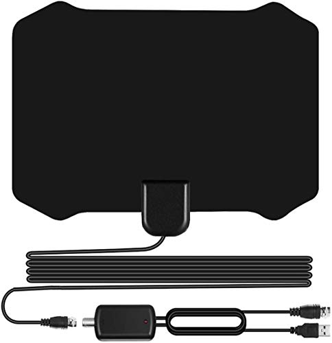 Sodysnay W222 Skywire TV Antenna for Digital TV Indoor, Amplified HD Digital TV Antenna with 120 Miles Long Range, Support 4K 1080P for Indoor with Powerful HDTV Amplifier
