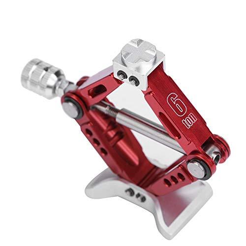 Dilwe RC Schereheber Wagenheber Crawler Car Jack Einstellbare Metall-Schereheber für Maßstab 1:10 RC Modell RC Auto-Werkzeugteil-Zubehör