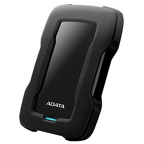 Adata AHD330-4TU31-CBK Disco Duro Externo Portátil HD330 Resistente a Golpes 4TB, 2.5″, USB 3.1 Gen1,…