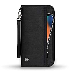 Travel Document Holder to Protect Your Belongings Abroad: Extremely useful for airports, crowded markets, buses, trains, sporting events and festivals. Keep everything together in one place. Perfect for storing your documents separately, neatly and i...