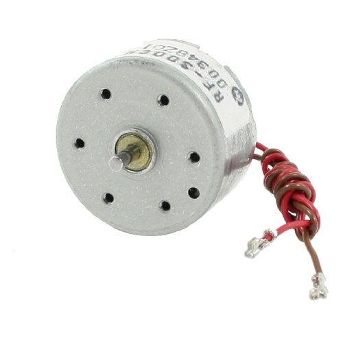sourcingmap 7100rpm 6 V 0.01 A Cylindre électrique Mini moteur à courant continu pour VDC DVD lecteur de CD