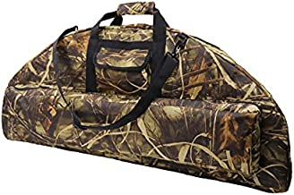 Silfrae Compound Bow Case Soft Bow Case Compound Bow Carry Bag with Arrow Pocket(OakCamo, 115cm)