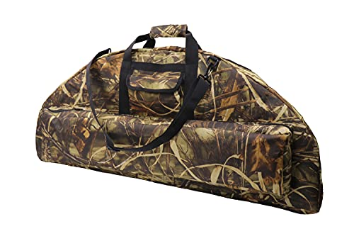 Silfrae Compound Bow Case Soft Bow Case Compound Bow Carry Bag with Arrow Pocket(OakCamo, 95cm)